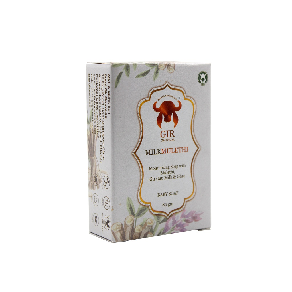 GIR Milk and Mulethi Herbal Soap 80g