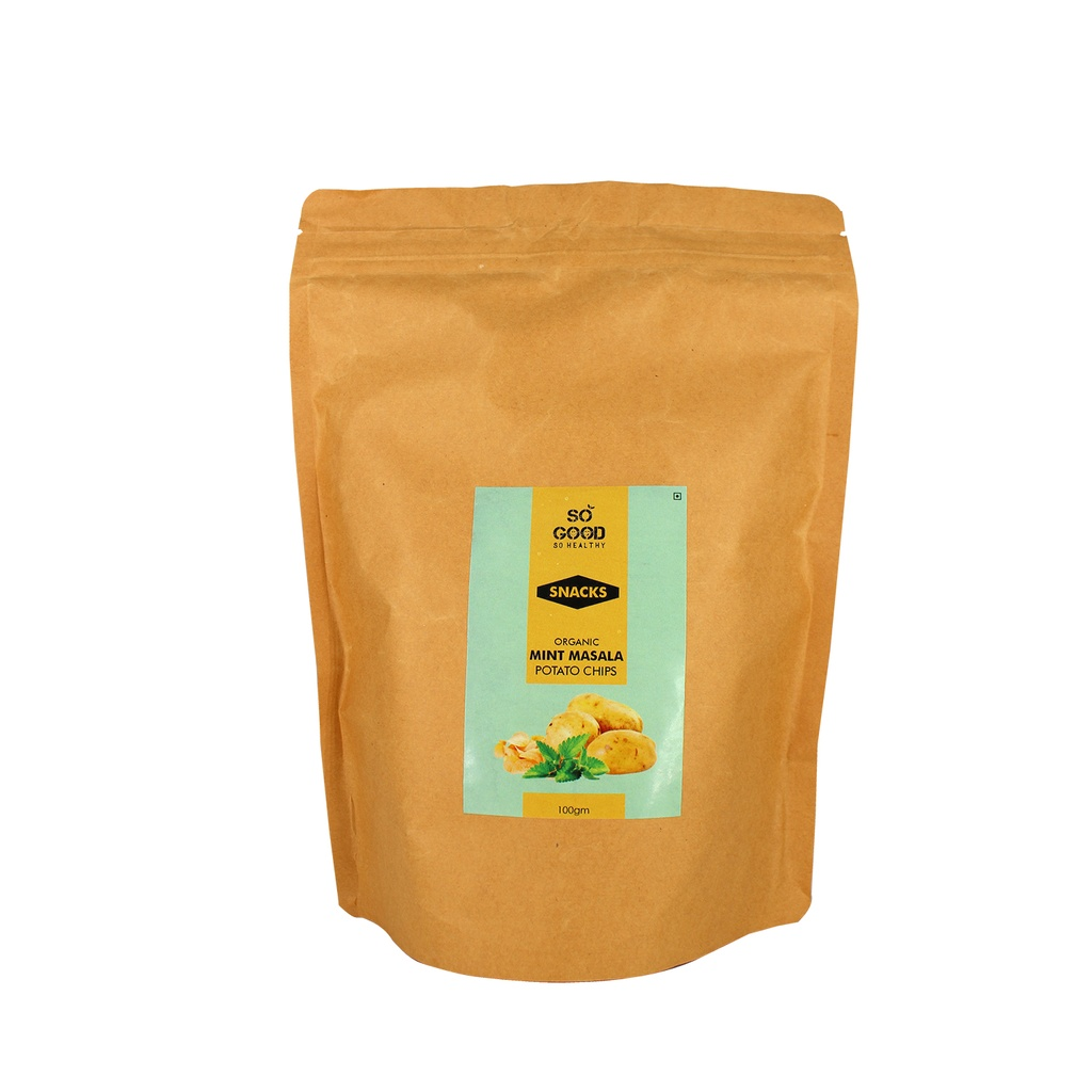 SO GOOD Organic Potato Chips (Mint Masala) 100gm